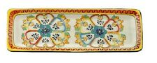 """Talavera style """"Tray 6"""""""" X 16"""""""" long"""" handmade, Chip and scratch resistant"""