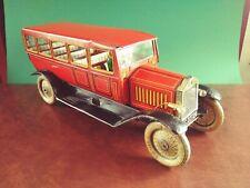 Exceedingly Rare 1920's Tippco TCO Large Tin Wind-up Touring Bus Tinplate