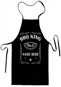 No. 1 BBQ King Personalized Kitchen Aprons For Father`s Day ,Birthday
