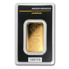 1 oz Argor-Heraeus KineBar Design Gold Bar .9999 Fine in Assay Card