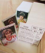 PANINI FOOTBALL 81 -1981 - PLUS DE 650 IMAGES DISPONIBLES !! PRIX IMBATTABLE !