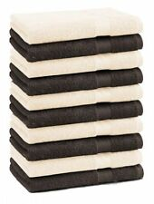 Betz 10er Pack Seiftücher Premium Dunkelbraun & Beige  30x30 cm  100% Baumwolle