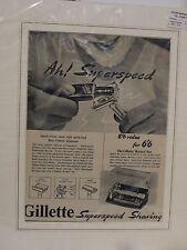 Original 1953 Vintage Advert mounted ready to framed Gillette 'Rocket' Set Shave