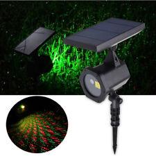 Solar Power LED Laser Projector Light Party Outdoor Waterproof Xmas Decor AU