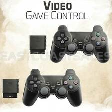 2x For Sony PS2 2.4G Wireless Twin Shock Game Controller Joystick Joypad
