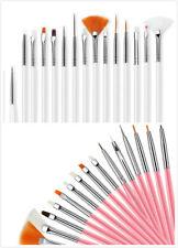 UK 15 pcs Nail Art Gel Design Pen Painting Polish Brush Dotting Drawing Tool Set
