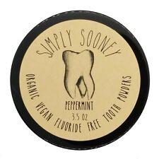 Peppermint Organic Vegan Fluoride Free Remineralizing Tooth Powder 6 Month Jar