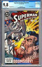 Superman The Man of Steel #19 CGC 9.8 WP 1993 3802398023 Doomsday