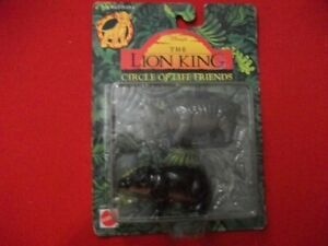 """DISNEY'S """"THE LION KING"""" CIRCLE OF LIFE FRIENDS RHINO & HIPPO IN SEALED PKG."""