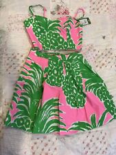 lilly pulitzer pink pout flamenco Crop Set 00 NWT