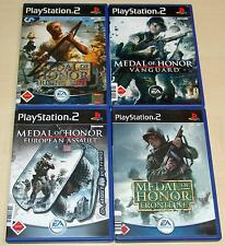 4 PLAYSTATION 2 PS2 SPIELE SET MEDAL OF HONOR VANGUARD FRONTLINE RISING EUROPEAN