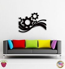 Wall Sticker Modern Abstract Decor Gear Wheel For Living Room z1459