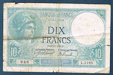 FRANCE - 10 FRANCS MINERVE Fayette n° 6.1 du 24=11=1916.D.en TB  L.2180 946