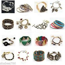 NEW LOT 50 Mixed FASHION EARRINGS Hoop Dangle Rings Necklaces Bracelets Bangles