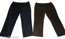Women's NEW YORK AND COMPANY  NY&CO NAVY BLUE &  BROWN CAPRIS Size 6 2 PAIR