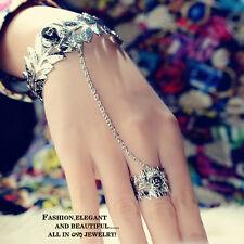 Women's Girls Newest Boho Bracelet Chain Bangle Slave Finger Ring Hand Harness