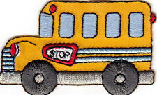 SCHOOL BUS Iron On Patch Vehicle Children