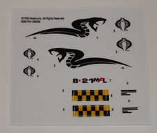 GI Joe Cobra Piranha Sticker Decal Sheet