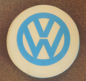Madmatz Volkswagen VW T2 BAY Window Spare Wheel cover Off White / Blue Bay