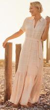 Vestido De Verano nuevo Emma Willis para la siguiente Largo Maxi Hermosa Rosa Tamaño 8