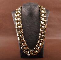 SHINY LINK ID Celebrity Style ALUMINIU CHUNKY CHOKER Curb Fashion Chain Necklace