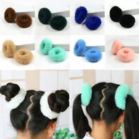 Girls Women Fluffy Faux Fur Hair Ring Rope Band Furry Scrunchie Elastic Kids