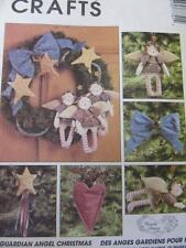 MCCALLS SEWING PATTERN UNCUT FOLK ART ANGELS HEART CHRISTMAS TREE SKIRT STOCKING