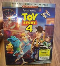 Toy Story 4 ( Blu-ray + Dvd + Digital + Slipcover) Brand New