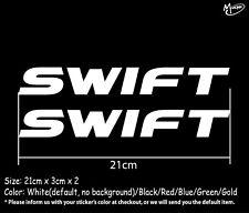 2 Pcs SWIFT Stickers Reflective  Motorcycle Decals Stickers SUZUKI Best Gift-