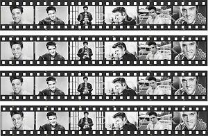 Edible Elvis Presley 4 Filmstrips Uncut Icing Cake Topper FAB FOR RIBBONS