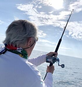 """Saltwater Offshore Spinning Rod  7' 6""""1PC 40-60LB"""