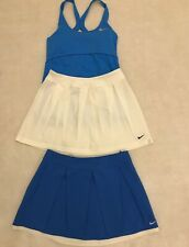 NIKE Tennis 2 skirts, top and jacket set. White and Blue. Size S