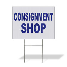 Weatherproof Yard Sign Consignment Shop Blue Lawn Garden Concessions