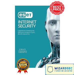 ESET Internet Security 3 Device 1 Year 2021 DIGITAL Secured Delivery HOT