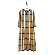 Vanity Fair Vintage Brown Long Flare House Robe Kaftan House Dress 70s Boho