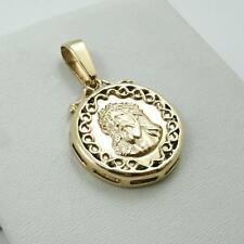 NEW! Solid 14K Yellow Gold Jesus Christ Face Portrait Pendant Medal, 4.8 grams