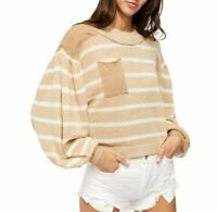 NWT Women's FREE PEOPLE Between the Lines Striped Sweater size Medium