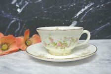 """Vintage Pink Roses Pope Gosser Cup and Saucer """"Jean """"Pattern"""