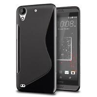 Handy Hülle HTC Desire 820 Silikon Case Slim Cover Schutz Hülle Tasche Schwarz