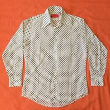 2de855c5 Vintage 60's KINGS ROAD Sears Polyester Trim Fit Polka Dot Shirt Size M  15-15.5