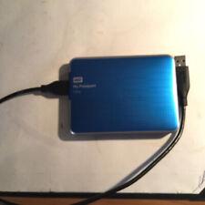 Blue 1TB Western Digital My Passport Ultra Portable Hard Drive USB 3.0 WD