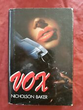 Libro Vox Nicholson Baker mondadori 1993 #TO1