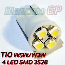 Lampada T10 con 4 LED SMD 3528 bianco 6000k W5W W3W lampadine posizione interno