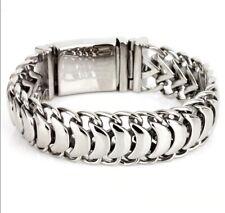 Men's Solid 925 Sterling Silver Unique Link Fashion Keel Bracelets