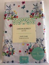 "Cynthia Rowley NEW Tablecloth Table Cloth EASTER Bunny Rabbit Oblong 60 x 84"""