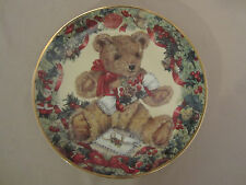Teddy'S First Christmas collector plate Teddy Bear Franklin Mint Sarah Bengry