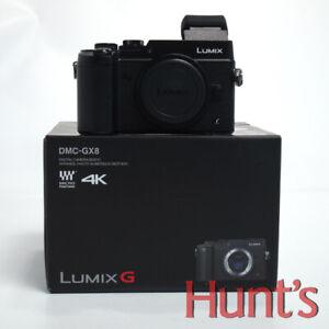 PANASONIC LUMIX DMC-GX8 20.3MP MFT DIGITAL CAMERA BLACK BODY**OPEN BOX DEMO**