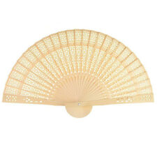 Sandalwood Chinese Openwork Folding Wood Fan Wedding Favor Summer SET of 12