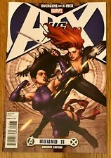 A vs X Round 11 Leinil Yu Variant Cover Black Widow Psylocke Avengers X-Men Nm