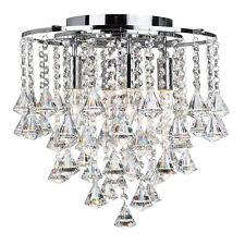Searchlight 3494-4cc DORCHESTER Chrome Finish Flush Fit Crystal Ceiling Light